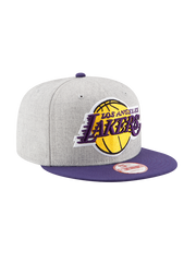 Los Angeles Lakers 950 Heather Grand Snap Back Cap