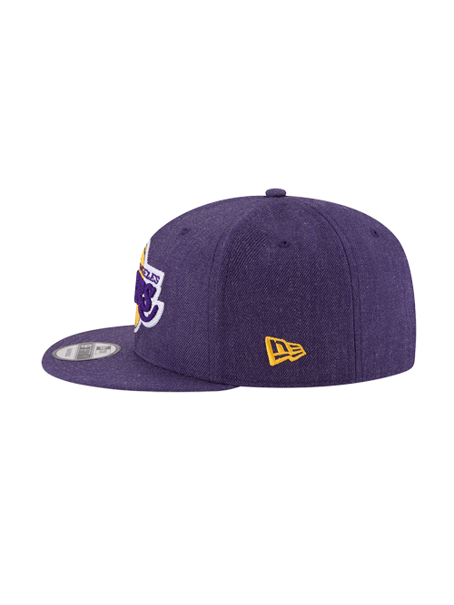 Los Angeles Lakers 950 Heather Crisp Primary Logo Adjustable Cap