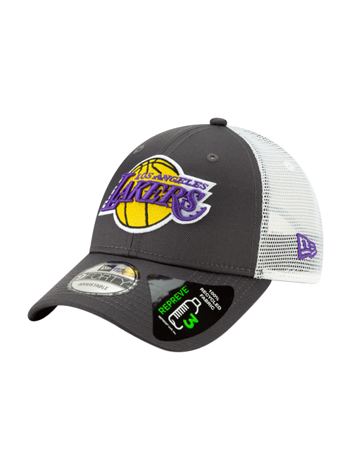 Los Angeles Lakers 9FORTY Repreve Trucker Graphite Adjustable Cap