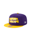 Los Angeles Lakers 9FIFTY Wordmark Heritage Snapback Cap - Purple
