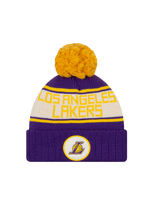 Los Angeles Lakers Marker Heritage Pom Knit - Purple