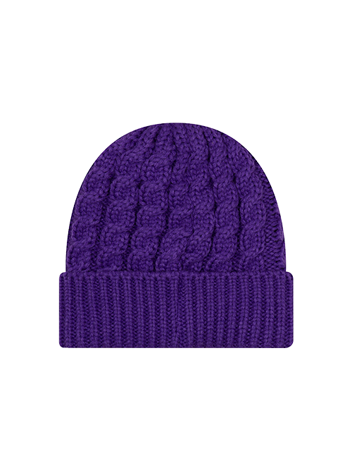Los Angeles Lakers BL Cable Knit Hat - Purple