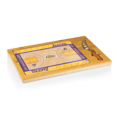 Los Angeles Lakers Cheese Plate with Knife