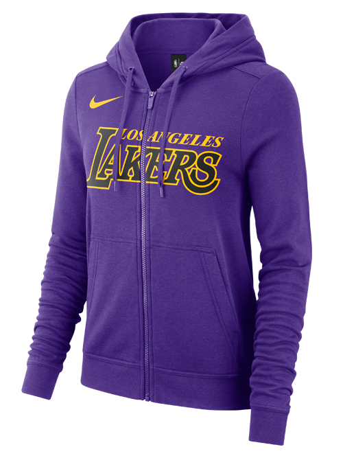 Los Angeles Lakers City Edition Women's Wordmark Full Zip Hoodie