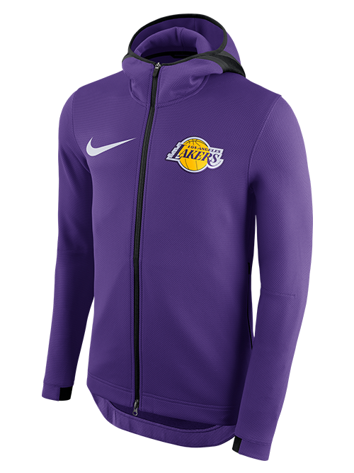 Los Angeles Lakers Therma Flex Showtime Full-Zip - Purple