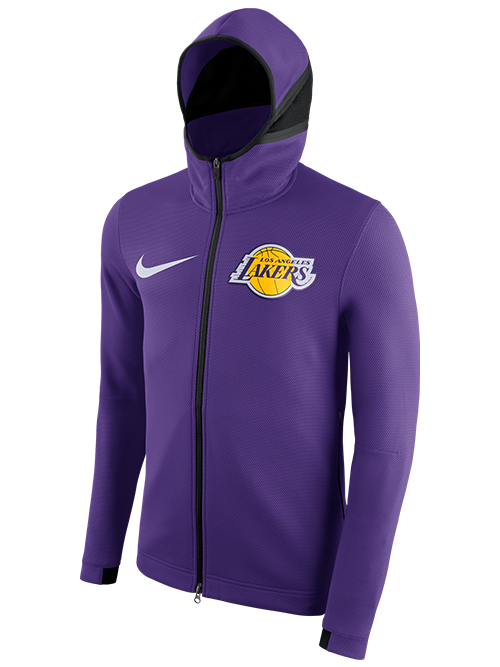 a7abd5438 Los Angeles Lakers Therma Flex Showtime Full-Zip - Purple