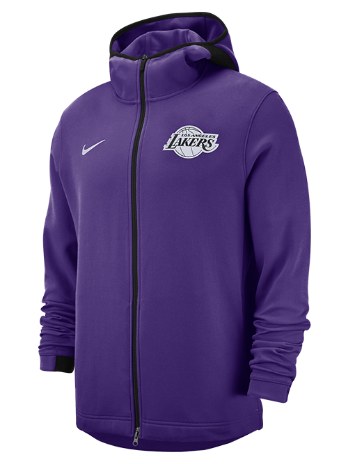 official photos cc8c1 7b0e9 Los Angeles Lakers Dry Hoodie Showtime Full-Zip - Purple