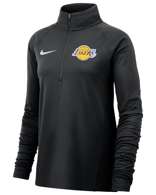 Los Angeles Lakers Women's Dry Element Quarter Zip - Black