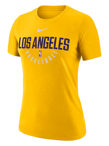 Los Angeles Lakers Women's Primary Logo Dri Fit Long Sleeve