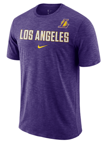 Los Angeles Lakers Checkered Filled Logo T-Shirt - White
