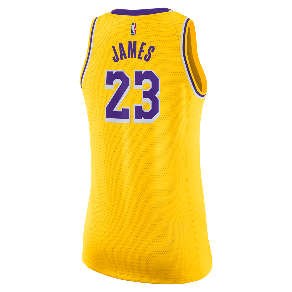 Los Angeles Lakers Women s LeBron James 2018-19 Icon Edition Swingman Jersey 49ba8362f8