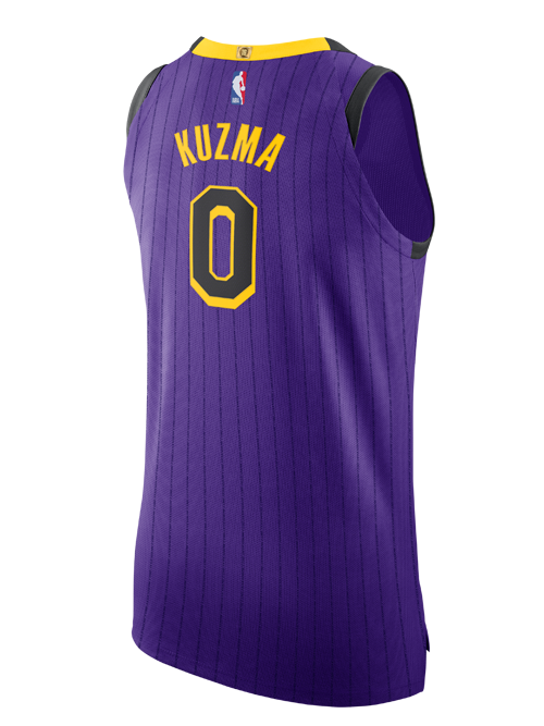 58f906254 Los Angeles Lakers City Edition Kyle Kuzma Authentic Jersey – Lakers ...