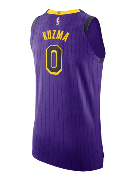 size 40 be08a 3063e Los Angeles Lakers City Edition Kyle Kuzma Authentic Jersey