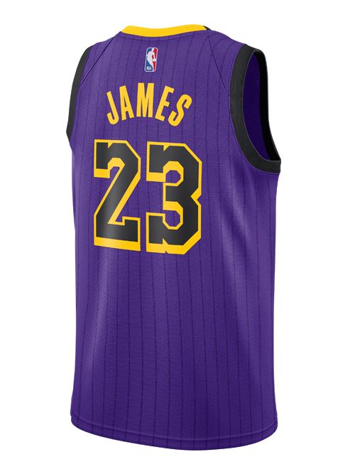 58b04d7ddd88b Los Angeles Lakers City Edition LeBron James Swingman Jersey