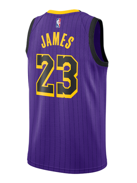 new style 76725 1cf73 Los Angeles Lakers City Edition LeBron James Swingman Jersey