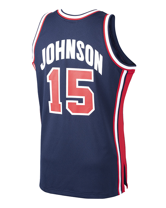 Magic Johnson USA Basketball Home 1992 Dream Team Authentic Jersey - Navy