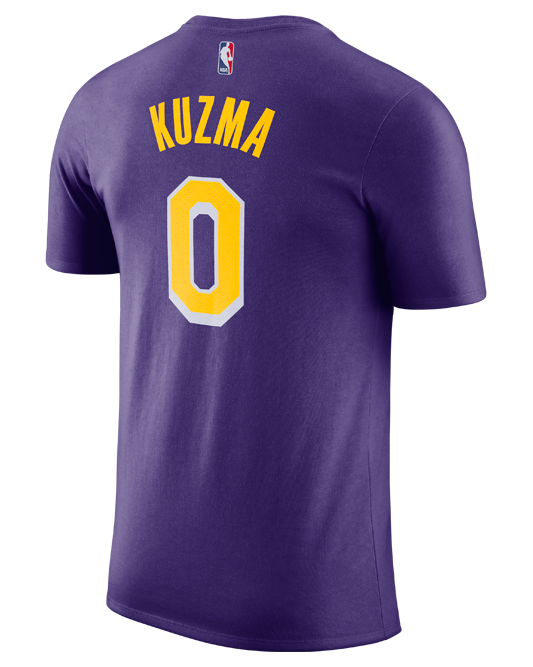 0aa1726437e6 Los Angeles Lakers Kyle Kuzma Statement Edition Player T-Shirt – Lakers  Store