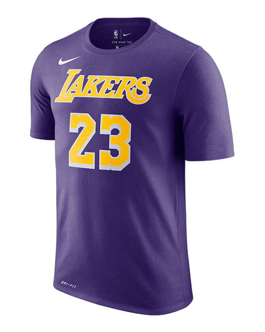 reputable site 499a5 e108e Los Angeles Lakers LeBron James Statement Edition Player T-Shirt
