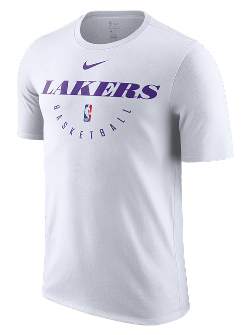 794d3f13b Los Angeles Lakers Practice T-Shirt - White – Lakers Store