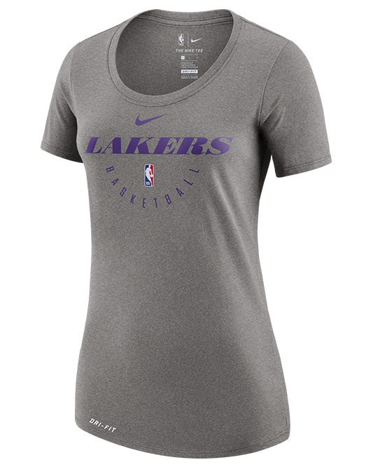 3eb8dbbad Los Angeles Lakers Women s Practice T-Shirt - Grey – Lakers Store