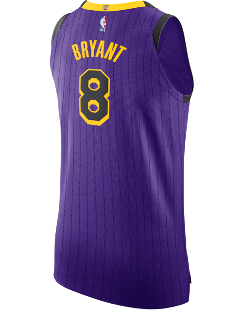Los Angeles Lakers City Edition Kobe Bryant #8 Authentic Jersey