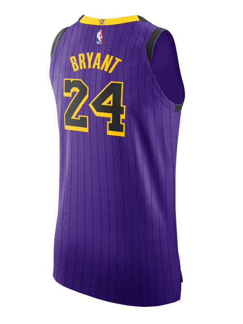 93719b41b Los Angeles Lakers City Edition Kobe Bryant  24 Authentic Jersey ...