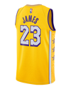 Los Angeles Lakers NBA Finals Patch LeBron James 2019-20 Statement Edition Swingman Jersey