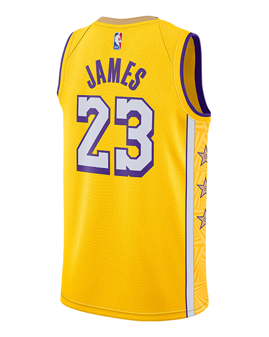 Los Angeles Lakers LeBron James City Edition Swingman Jersey