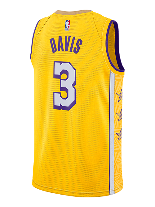 PRE-ORDER Los Angeles Lakers Youth Anthony Davis City Edition Swingman Jersey - Gold