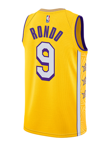 Los Angeles Lakers Rajon Rondo Logo Flip T-Shirt