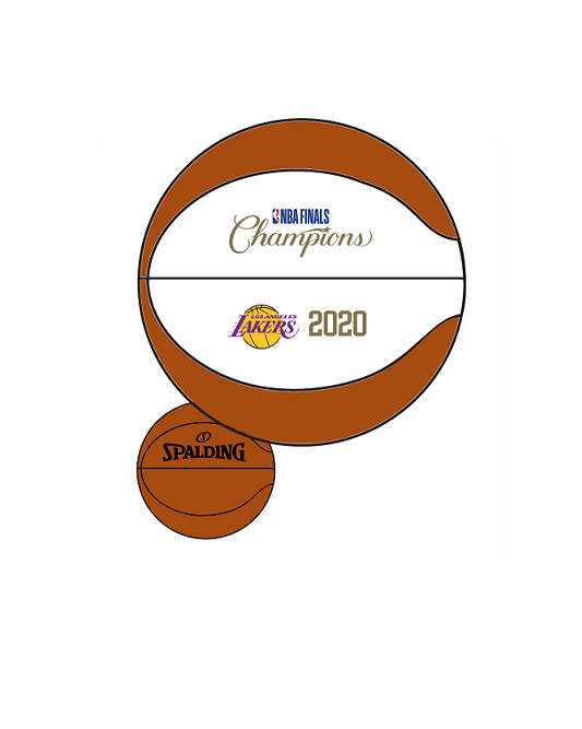 Los Angeles Lakers 2020 NBA Champions B1 Replica Ball
