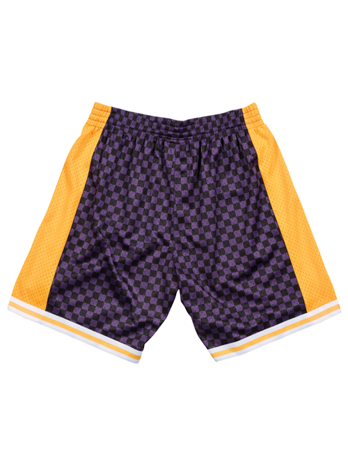 Los Angeles Lakers Checkered Shorts - Purple
