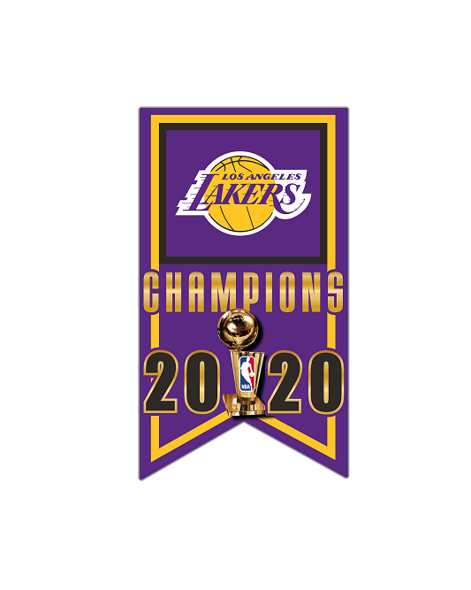 2020 NBA Champions Los Angeles Lakers Banner Pin