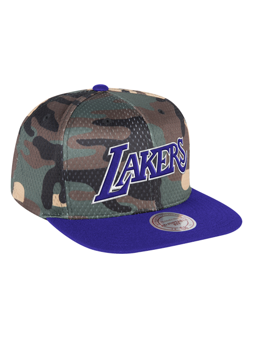 Los Angeles Lakers Camo Crown Cover Snapback Cap e5fd7a827e2