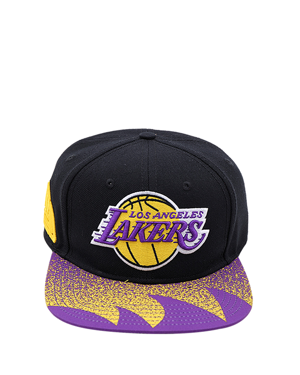 Los Angeles Lakers Black Pyramid Black Snapback Cap