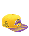 Los Angeles Lakers Black Pyramid Gold Snapback Cap