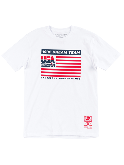 USA Basketball 1992 Dream Team Flag Tee - White