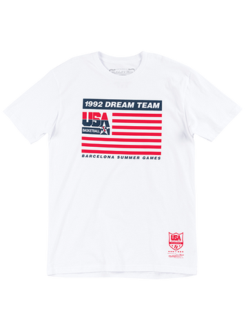 USA Basketball 1992 Dream Team Script Tee - Navy