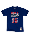 Magic Johnson USA Basketball 1992 Dream Team Player Tee - Navy