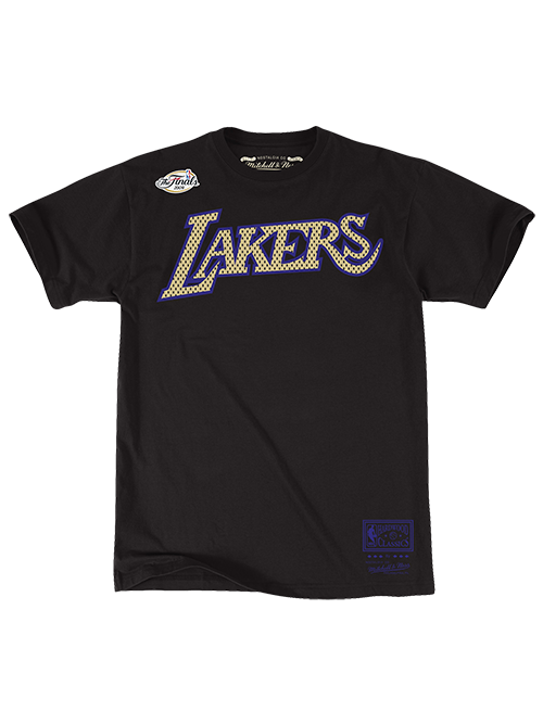Los Angeles Lakers Hardwood Classics 2009 NBA Champions Wordmark T-Shirt - Black