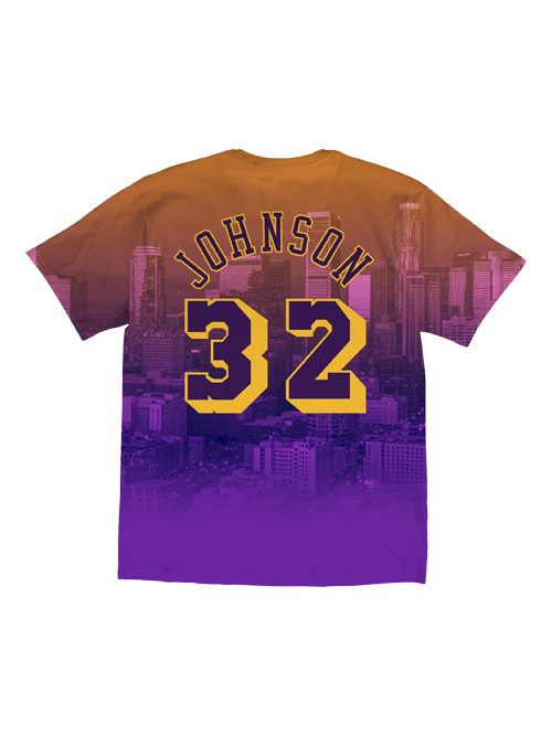 Los Angeles Lakers City Pride Johnson Photo Player T-Shirt
