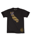 Los Angeles Lakers LeBron James Side Sweep Player T-Shirt - White