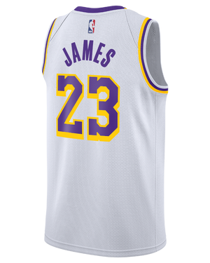 Los Angeles Lakers LeBron James Association Edition Swingman Jersey