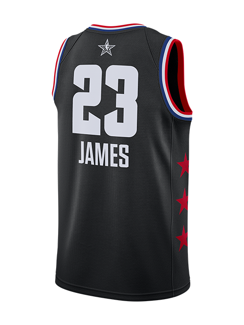 2019 NBA ALL STAR GAME LEBRON JAMES SWINGMAN JERSEY- BLACK