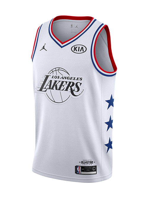 6fd19ca559f 2019 NBA ALL STAR GAME LEBRON JAMES SWINGMAN JERSEY- WHITE – Lakers ...