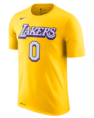 Los Angeles Lakers City Edition Men's Logo Thorpe Long Sleeve Tee - White/Black