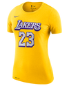 Los Angeles Lakers Women's LeBron James City Edition Player Tee - Gold