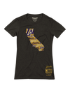Los Angeles Lakers LeBron James Women's Backer Name & Number V-Neck