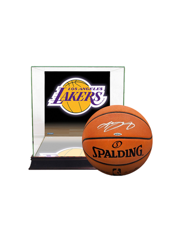 Los Angeles Lakers LeBron James Signed Basketball with Team Case