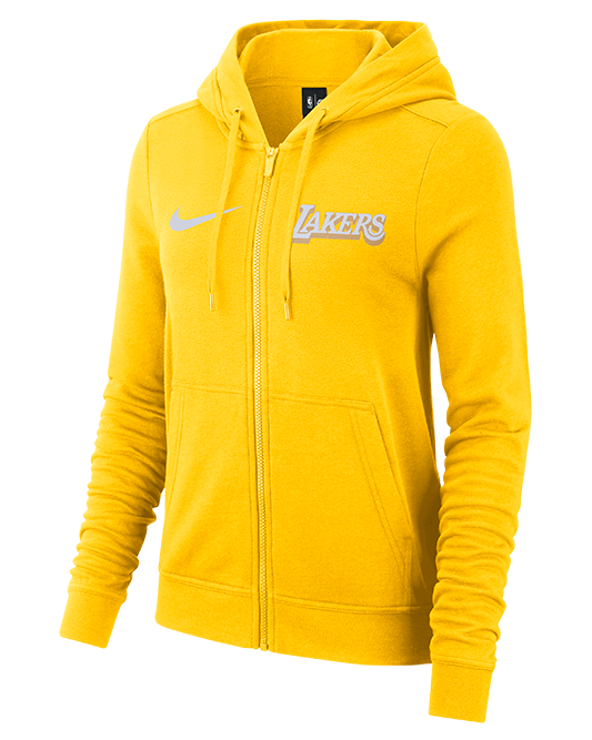 PRE-ORDER Los Angeles Lakers Women's City Edition Full Zip Hoody - Gold/White